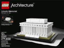 amazon com lego architecture 21022 lincoln memorial model kit