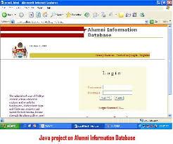 alumni database software java project on alumni information database 1000 projects