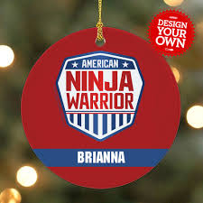 personalized american ninja warrior christmas ornament