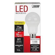 75 watt led light bulbs feit electric 75 watt equivalent non dimmable omni led light bulb
