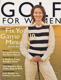 Women Magazine May 2003 Golf For Women Magazine Cover Morra Designs