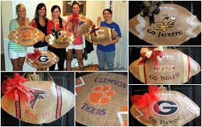 Uga Home Decor by Southern Color Collegiate Burlap Football Door Hanger