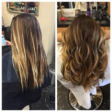from natural asian black hair to light up her root color brown as
