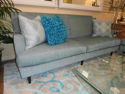 Two Cushion Sofa by Vanguard Two Cushion Sofa In Sea Blue Mist Measures 87x36x38