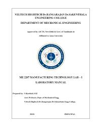 me2207 manufacturing technology i lab manual welding sheet metal