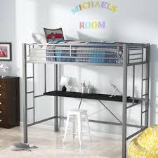 queen loft bed wayfair