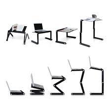 Furinno Adjustable Laptop Desks Pwr Portable Laptop Table Desk Vented Fully