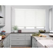 white valance faux wood blinds blinds the home depot