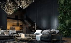 decorating living room walls with a shade of dark colour ideas
