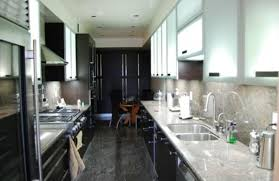 narrow kitchen cabinets small and narrow kitchen with modern cabinets colorful