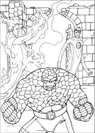 fantastic four coloring pages fantastic four leaf clover and