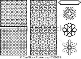 islamic pattern cad drawing traditional middle eastern islamic patterns vector eps vectors