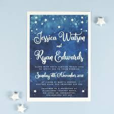 Foil Wedding Invitations New Yvaine Watercolour Night Sky Foil Wedding Invitations