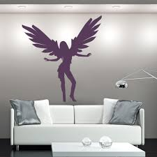 dancing silhouette angels and wings wall stickers home decor