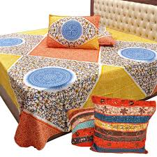 Cusion Cover Buy Buy Double Bed Sheet U0026 Pillow N Get Colourful Cushion Cover