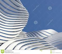 modern futuristic architectural design royalty free stock photos
