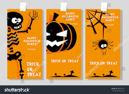 happy halloween funny picture set funny holiday banner title happy stock vector 488547721 54