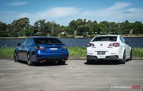 lexus v8 gs 2017 hsv clubsport lsa vs lexus gs f v8 sedan comparison video