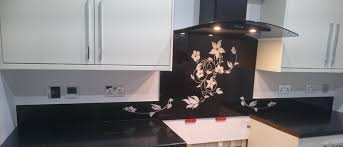 designer kitchen splashbacks printed glass splashbacks for kitchens colour 2 glass