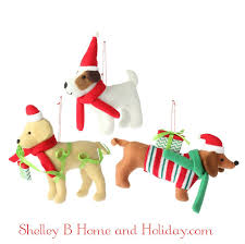 furry dog christmas ornaments shelley b