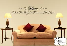 Wall Quotes For Living Room by Family Wall Decal Home Where The Happiest Memories Are Made