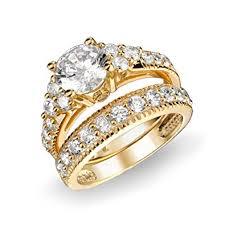zircon wedding rings images Wubefine plated 18k gold one pair of aaa zircon jpg