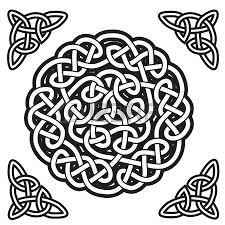 celtic ornament gordian knot stock vector project element