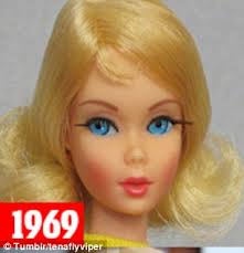 barbie u0027s evolution charts beauty trends era