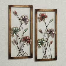 garden whispers floral metal wall art panel set