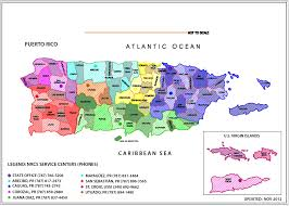 Puerto Rico On A Map by Contact Us Nrcs Caribbean Area