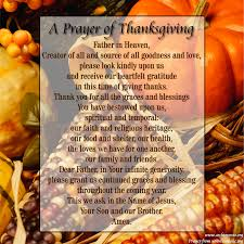 thanksgiving day prayer for friends family members and ones