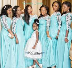 naija weddings blue bridesmaids dresses for weddings in different shades