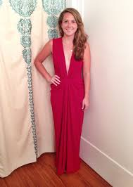 red plunge gown by thakoon for 599 rent the runway