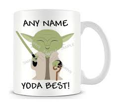 dad yoda best mug any name yoda best star wars mug yoda mug