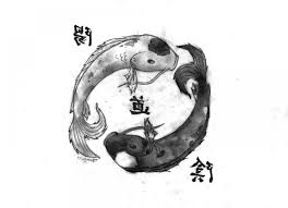 drawn couple yin yang pencil and in color drawn couple yin yang