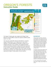 Map Of The Oregon Coast by Publications Oregonforests