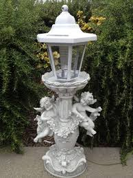outdoor garden decor cherub solar light outdoor garden
