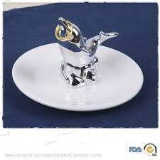 porcelain giraffe ring holder images New design decoration small hand crafts ceramic ring holder jpg