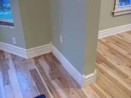 Hardwood Floor Molding Attractive Step For Installing Baseboard Trim On Hardwood Floors