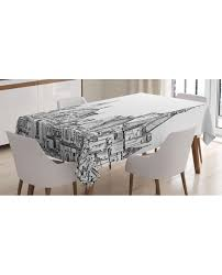tablecloth sketchy landmark printed table cover