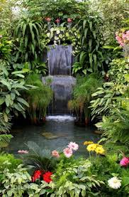 Backyard Waterfalls Ideas Backyard Waterfall Landscape Ideas One Decor