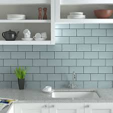 metro tiles are a popular modern style for kitchens shown here