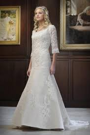 simple modest wedding dress with lace sleeves ipunya