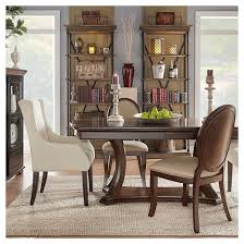 hutton formal round back side dining chair wood rich brown cherry