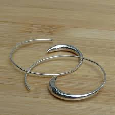 hoops earrings india handmade sterling silver spiral hoop earrings india free