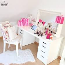 Pink Table L Home Accessory Make Up Table Makeup Table Desk Mirror Girly
