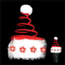 led santa hat light up santa hat lighted santa hats glowsource