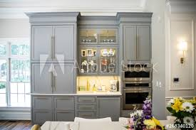 kitchen cabinets open floor plan grey kitchen storage cabinets in an updated removated modern