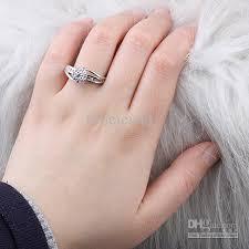 silver rings price images Women flower style white topaz anniversary finger silver ring size jpg