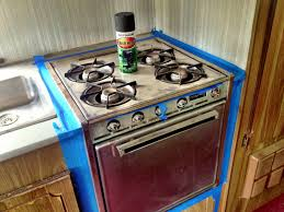 Camper Trailer Kitchen Ideas Painting An Oven With High Heat Rust Oleum Gloss Finish Rv